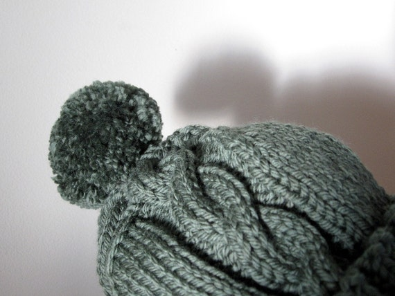 SALE - PDF PATTERN Chunky Cable Stocking Cap -  One Size Fits All