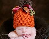 Lil Pumpkin Eater Newborn Photography Prop