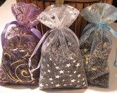 Organic Dried Lavender Sachets - Set of 3