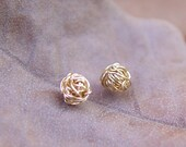 Tiny Wire Ball Post Earrings, Gold Filled - READY TO SHIP