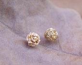 Gold Knot Stud Earrings, Gold Stud Earrings, Tiny Wire Ball Earrings, Gold Earring Studs, Gold Stud Earring, Gold Stud Earring, Stud Earing