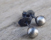 Small Sterling Silver Studs, Oxidized Sterling Silver Stud Earrings, Studs Earrings, Small Silver Studs, Black Studs, Black Stud Earrings