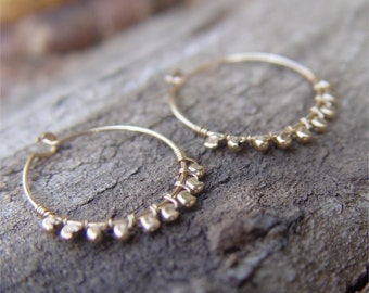 Small Gold Hoops, Small Gold Hoop Earring, Hammered Gold Hoop Earrings, Gold Hoop Earrings, Thin Gold Hoop Earrings