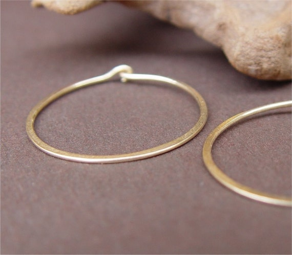 Classic Organic Shape Hoops, 14kt Gold Filled - READY TO SHIP