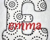Bubble Love Applique Font - 4 sizes