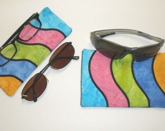 In The Hoop Pieced Wave Readers-Sunglasses Cases 5X7 NO SEW Machine Embroidery