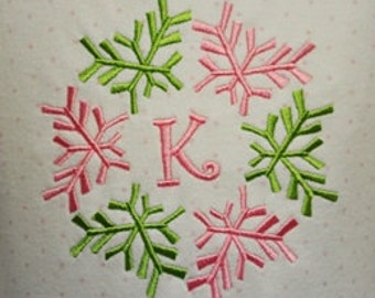 Mod Snowflake Monogram