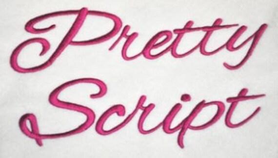 Pretty Script Font - 8 sizes
