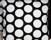 FREE SHIPPING Set of Two 16x16 inch Designer Pillow Covers - Contemporary Funky Black and White Polka Dots. Pillow Covers, Pillow Cases, Cushion Covers