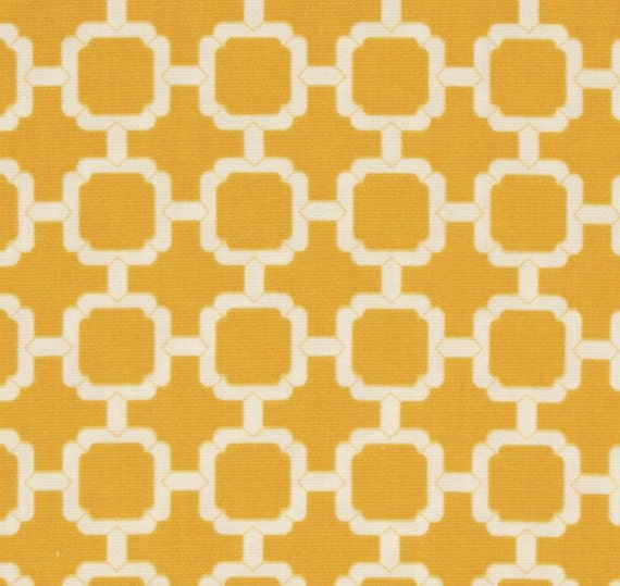 FREE SHIPPING - Two 16x16 inch Designer Indoor / Outdoor Pillow Cover. Indoor/Outdoor Geometric Hockley Banana