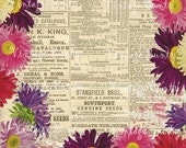 NEW - Gardening Illustrated 1883 Collage Sheet/Background Paper for DIgital Download