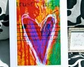 Heart Card Art Print Mixed Media Blank Card by artist Renee Mak  Trust