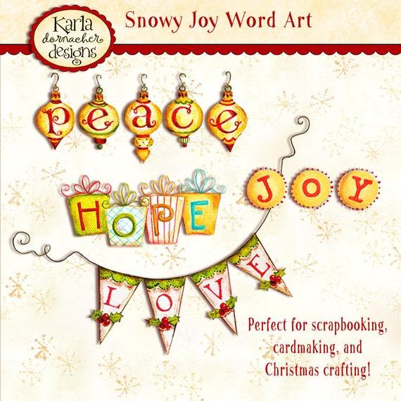 Christmas Word Art INSTANT DOWNLOAD Digital Printable Cardmaking - Scrapbooking Crafting KD116