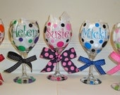 Personalized Wine Glasses - Name, Monogram or Initial