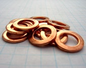 5/8 x 20g THICK Copper Washer Blanks Donut Circle Metal Open Disc for Necklace Links Connectors Hand Stamped Jewelry Making Supplies Qty 5