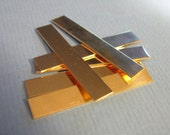 14K Gold-Filled Stamping Blanks Pendant Jewelry Making Supplies RECTANGLE for Hand Engrave Personal Tag 22 Gauge 1/4  x 1-1/2 inch Qty 6