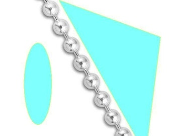 Necklace 1mm wide Ball 30 inch Sterling Silver Bead Chain Necklace Ultra Dainty 1 mm One millimeter Custom Lengths