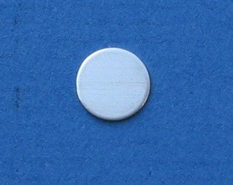 5/8 Inch Sterling Silver Blank Disc Circle Metal Jewelry Making Supplies Round Disk Hand Stamping Blanks SMOOTH Grade 24 gauge You get 12