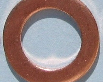 Copper Jewelry Making Supplies Copper Washers Hand STAMPING Open Circle Connector Metal Blank Round 3/4 Inch 18 mm 16 Gauge Qty 12