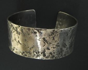 Handmade Sterling Silver Metal Cuff Bracelet