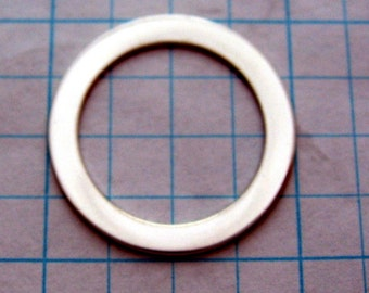 One inch 22ga Sterling Silver Stamping WASHER Blanks Disc Jewlery Supplies 1 inch Round Circle 3/4 inch hole 22 gauge SMOOTH Quality Qty 6