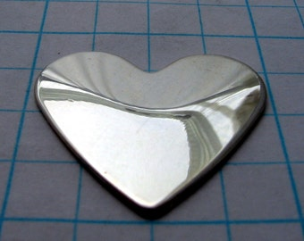 Sterling Silver HEART Blanks Metal Jewelry Making Supply Disk Hand STAMPING Disc Hearts for Pendant Charms 3/4 inch Tall Qty-3