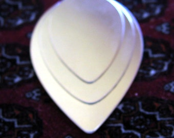 Sterling Silver Tear Drop STAMPING Blank Silver Guitar Pick Variety Pack Smooth Jewelry Making Supplies Disk Tag Disc Charm Tear Drop Stack
