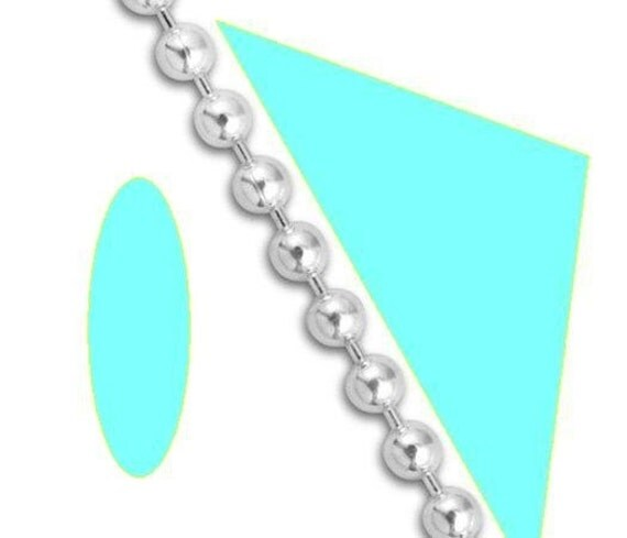Necklace 1mm wide Ball 18 inch Sterling Silver Bead Chain Necklace Ultra Dainty 1 mm One millimeter Custom Lengths