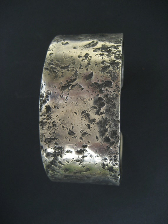 Sterling Silver Cuff Bracelet 1 Inch Chunky
