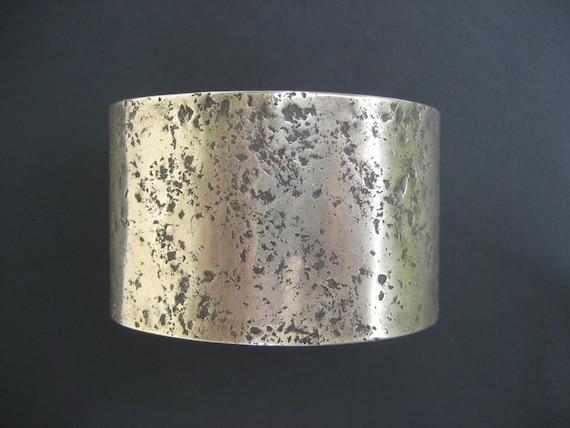 Handmade Sterling Silver Cuff Bracelet  Artisan Custom 1 1/2 Inches Wide