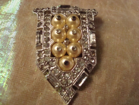 TRIFARI Art Deco Brooch or Dress Clip