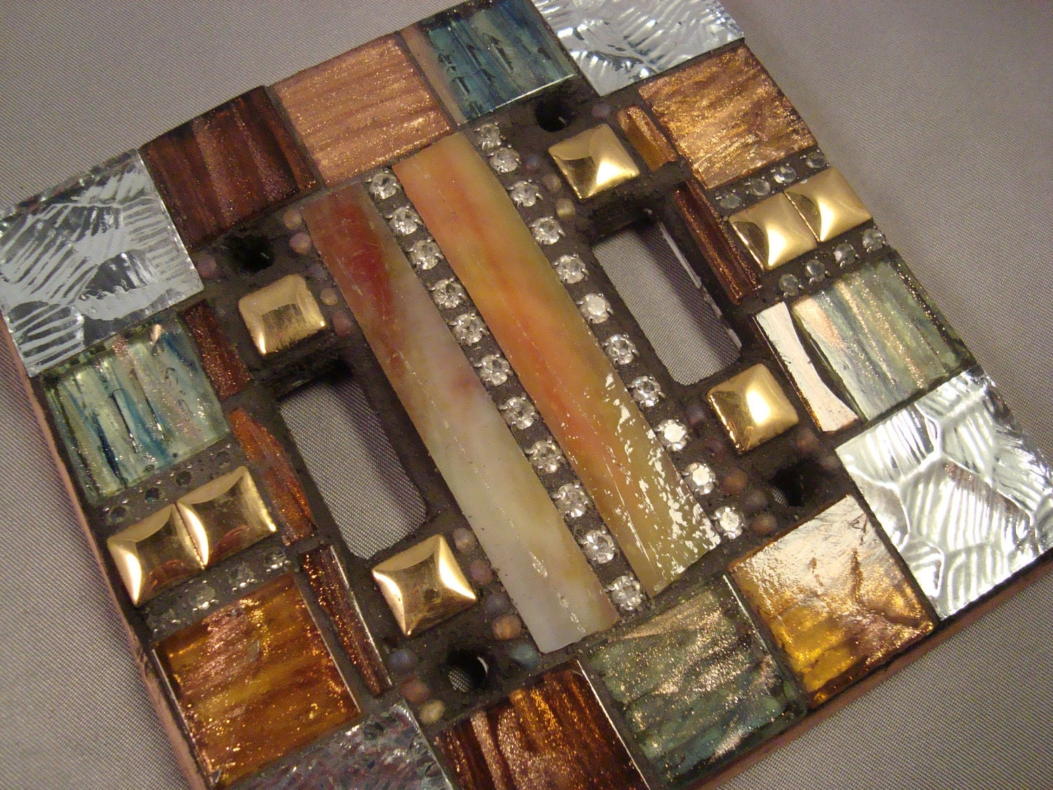 Mosaic Light Switch Double Switch Plate Cover