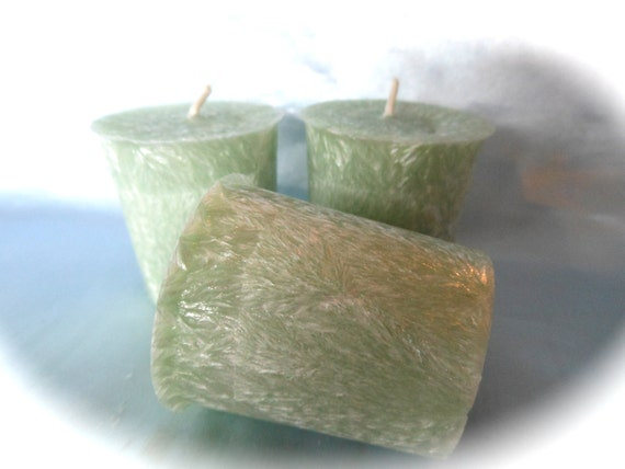 Sage and Citrus Scented-Natural Palm Votives-lot of 3