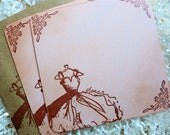 Bridesmaid Notecards, Bridesmaid Thank You Cards, Notecards, Vintage Style -  Set of Six
