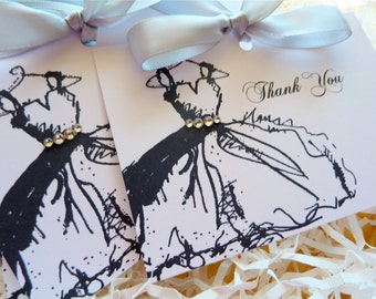 Bridesmaid Thank You Cards, Bridal Party Cards, Thank You Notes