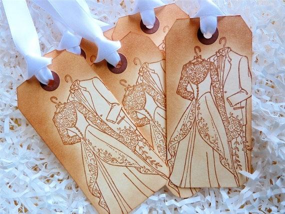 Wedding Formalwear Wish Tree Favor Gift Tags Vintage Style Set Of Five