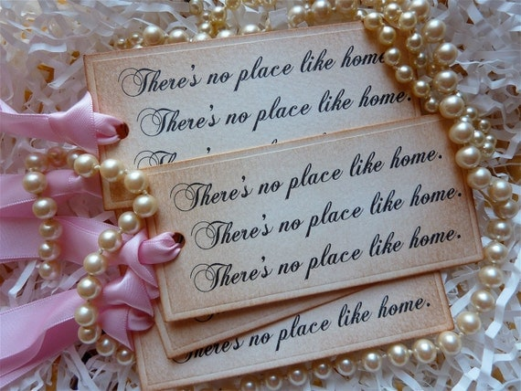 Wizard Of Oz No Place Like Home Tags Vintage Style Set Of Five