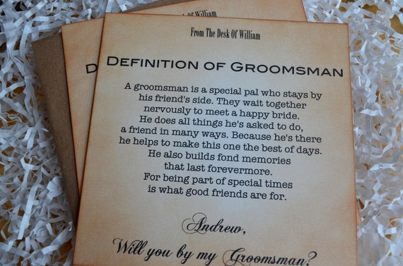 Will You Be My Groomsman Invitation Personalized Set of Three - RESERVED