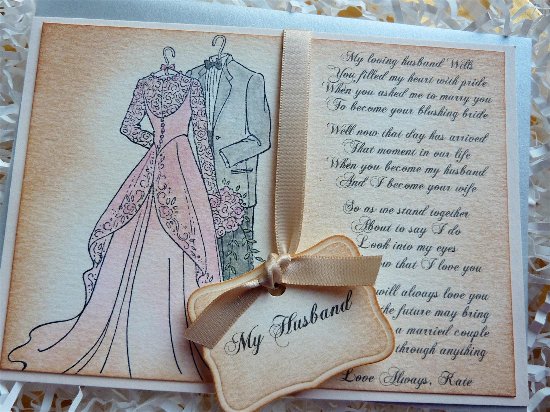 Wedding Gift For Husband On Wedding Day: Card For Groom Wedding Card For Husband Wedding Day Card