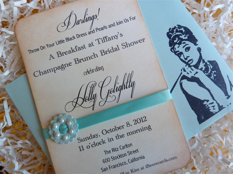 Wedding Shower Invitation: Bridal Shower Invitation Breakfast At Tiffany's RESERVED