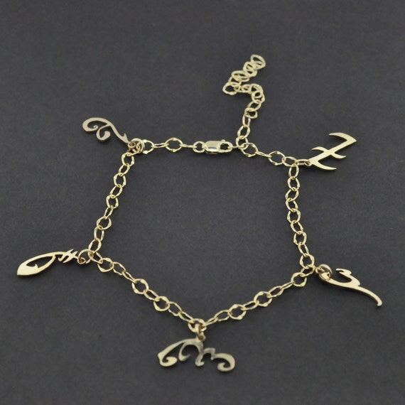 items similar to isabelle s rune charms gold anklet