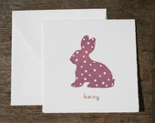 Polka-dotted Bunny Card