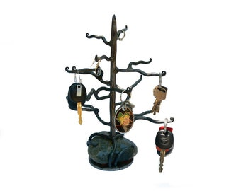 The Tree on the Green Rock  (Jewelry Holder) Sculpture