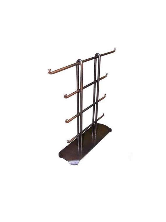 Jewelry Holder Tower 1 Black and Copper