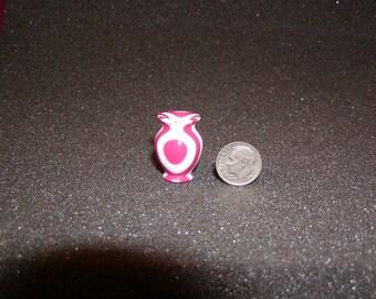 1/12 Scale Miniature Strawberry Vanilla Acrylic Turned Vase