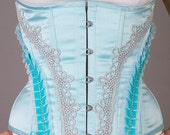 Blue Cupcake Corset, Tightlacing - CUSTOM YOUR SIZE