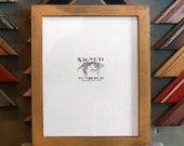 8x10 Picture Frame with Old Gold Finish in 1x1 Flat Style