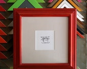 12x12 Picture Frame with Vintage Red Dye Finish in Mulder Style