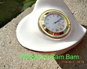 Lenox vintage small heart clock white with gold trim Non working on sale
