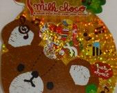 Q-Lia Kawaii Milk Choco Bear Sticker Sack